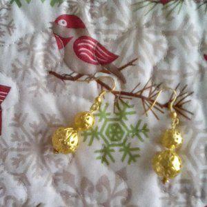 Gold ball Dangle Earrings